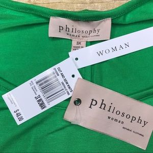 Philosophy Tops - Philosophy plus size tunic top